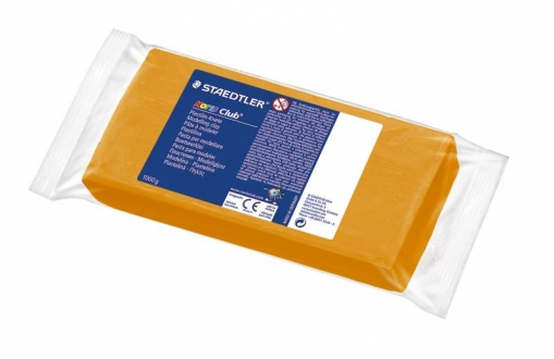 Plastilin-Knete, Kinderknete, Noris-Club, 1000g in orange