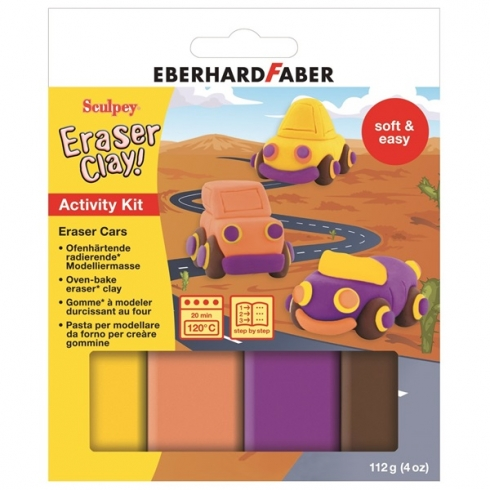 Sculpey Activity Kit Eraser Clay (radierende Knete) Cars II