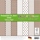 "Designpapier 12""x12"" 240gr ""Basic Set"" in schoko"