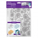 "Hintergrundstempel A5 Clear Stamp ""Paisley"""