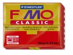 Fimo Classic Knete in rot, Modelliermasse 56g Normalblock