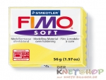 Fimo Soft Knete - limone, Modelliermasse 56g Normalblock