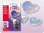 FIMO Metallicpulver in Silber, 3g Glas