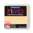 Fimo Professional Knete in champagner, Modelliermasse 85g Normalblock
