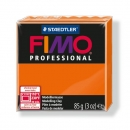 Fimo Professional Knete in orange, Modelliermasse 85g Normalblock