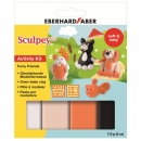 Sculpey Activity Kit Furry Friends 4x28g + Anleitung